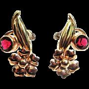 SALE Vintage Carl Art Flower Screw Back Earrings - Plus Free US Shipping