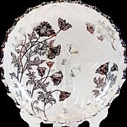 Cambridge Glass Silver Overlay Bowl Caprice Poppy Pattern