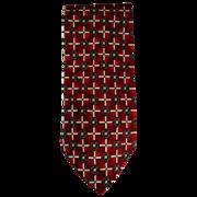 "SOLD Beautiful Henry Grethel Platinum Red Men's 57"" Tie in 100% Italian Silk & Free US Sh"