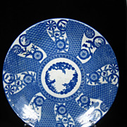 SALE Japanese Arita Blue & White Charger Three Friends of Winter & Free US Shipping