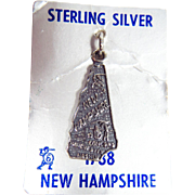 Sterling Silver New Hampshire State Charm with Original Package