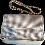 SALE Vintage Whiting Davis Mesh Handbag Purse in White Plus Free US Shipping