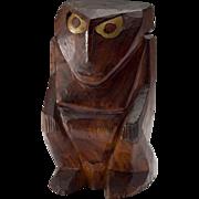 Vintage Micronesian Wood Squatting Figure