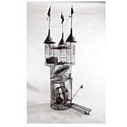 Hobart Ray Brown, (American, 1934 –2007) Kinetic sculpture,  Hamster cage in the form of ...