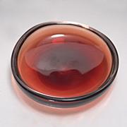 """Vintage 1945- 1954 Sven Palmqvist for Orrefors  """"Selena""""  Free Form Glass Bowl"""
