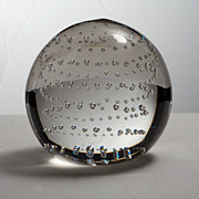 SALE PENDING Vintage 1960s Controlled Bubble Paperweight