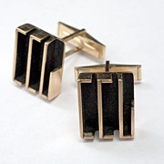 Modernist Mid century  Gold-filed Cufflinks