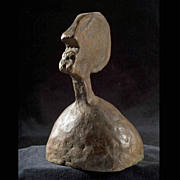 Mid-Century  Cast Bronze Head, Bay Area Abstract Expressionist