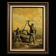 SALE PENDING Dutch Modernist Painting by Vandenhaute