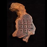 Vintage California Coastal Redwood Burl Tic-Tac-Toe Game Board