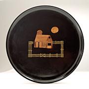 """Vintage Couroc Modernist  """"Back to the Land"""" 1970's Platter"""