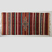 Very Large Antique Saltillo Serape Mexican Blanket, c. 1930's -1940's