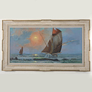 Original Nautical Painting by Carel Lodewyk Dake, II (1886-1946)