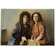 Vintage Hand Colored Photograph Eva Weiss, circa 1977