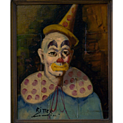 Clown Portrait by Julian Ritter, circa 1960's