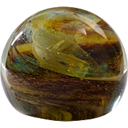 Vintage Handmade Isle of Wight England paperweight