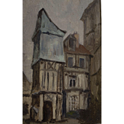 "Oil Painting by Joseph Jourdain  (1845 - 1918) , ""Rue Pomme D'Or"" Rouen,France"
