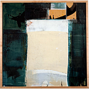 Peter Boyer Abstract Collage Decoupage Painting, circa 1995