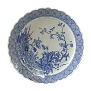 SALE Fabulous! Antique, 19 c., Japanese Arita  Blue and White Porcelain Charger LARGE-15""