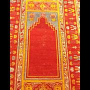 SOLD Anatolian-Oushak Antique Prayer Rug