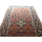 "SOLD Fabulous Antique  HERIZ Oriental WIDE Runner 4'10"" X 10'11"""