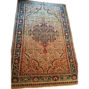 "REDUCED Finely Knotted  Persian Malayer Oriental Rug, 4'6"" X 6'6"" , ca. 1880-1900 .."