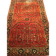 SOLD Fine Persian Mohajeran Sarough Oriental Rug, ca.1900 handmade of purest wool 4'x6'2""