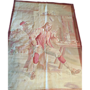 SALE Antique-late 18th c. Brussels Tapestry Wall Hanging Art--Man at the Pub- famous ...