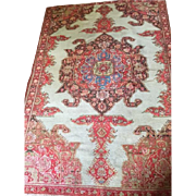 "SALE Beautiful Antique Malayer Persian Oriental Rug, 4'3""x6'4"" Handmade of Wool in s"
