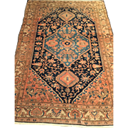 SALE ca. 1900 Persian Malayer Oriental Rug with beautiful detailed design, and Medallion-handm