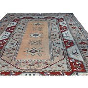 "SALE Large Geometric KONYA ORIENTAL RUG handmade in Turkey 9' X 12'8"" Free appraisal-Free"