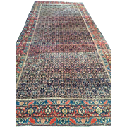 SALE Antique Persian SENNAH Oriental Rug, Overall Design with beautiful border ca. 1880,  6'4""