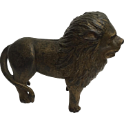 SALE What a handsome LION! Wonderful heavy and thick nicely detailed Cast IRON BANK door ...