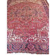 SALE Fine  Classic Persian HERIZ, Geometric- Hand Woven using fine wool dyed with natural ...