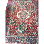 SALE Geometric Persian HERIZ Oriental Rug, hand woven using fine Wool dyed with natural ...