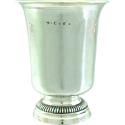 SOLD Early 19C Antique French Sterling Silver Wine Cup Goblet NCT