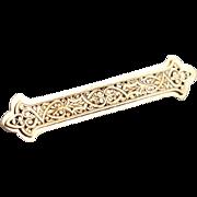 19C Antique French Solid 18K Gold Arabesque Pendant Unisex