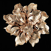 Huge HAR Hargo Flower Blossom Brooch Pin  Pristine