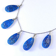 Art Deco Molded Glass Necklace