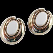 Vintage Pierre Cardin Cabochon Earrings