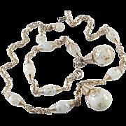 Volupte Glass Bead Necklace Bracelet Demi Parure Set
