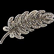 HAR Rhinestone Faux Seed Pearl Brooch Pin