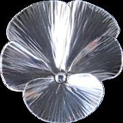 Stuart Nye Sterling Silver Pansy Brooch Pin