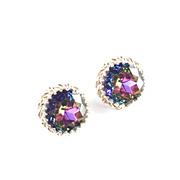 Elsa Schiaparelli Watermelon Tourmaline Rhinestone Earrings