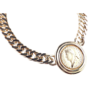 Carolee Faux Ancient Roman Coin Necklace