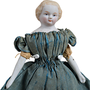 All Original Parian-Type Dollhouse Doll - 4.25 Inches