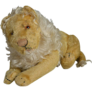 Early Jointed Steiff Lion - 11 Inches Long