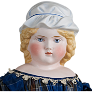SALE Unusual ABG Lady  with Molded Hat 21 Inches