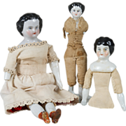 SALE Three German China Dolls