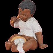 SALE Heubach Black Boy Eating Porridge Figurine - 5.25 Inches Tall